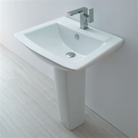 Bathroom Sinks Modern Europa St Moritz 1th Contemporary Ceramic Bathroom Basin Pedestal Sink 3032 Ebay