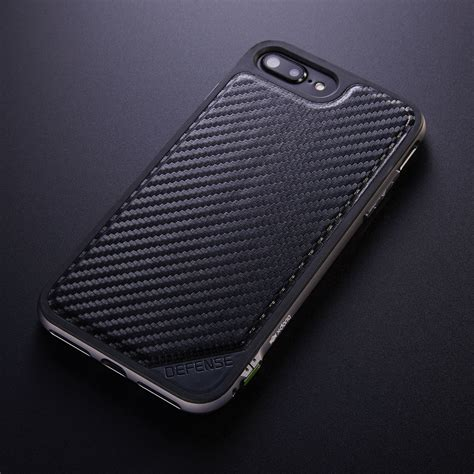 defense lux black carbon fiber iphone   doria