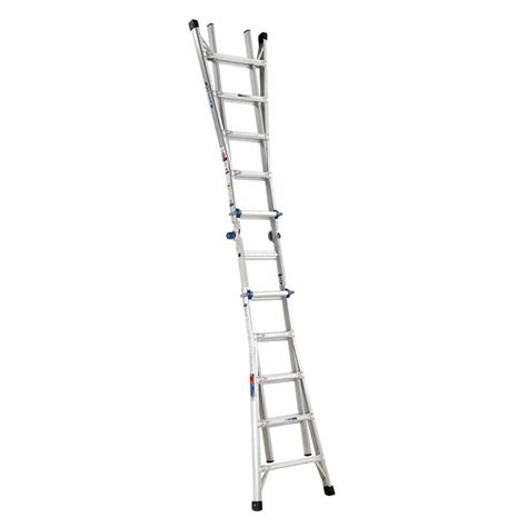 Extension Ladders At Home Depot by Werner 22 Ft Aluminum Telescoping Multi Position Ladder