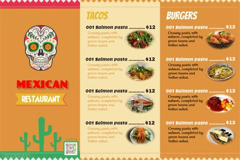 layout menu restaurant mexican restaurant menu layout templates resume