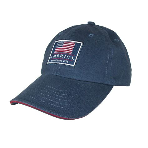 cotton classic american flag usa baseball cap by dorfman