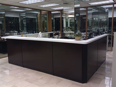 Custom Made Reception Desks Custom Made Reception Desk By Bailey S Custom Designs Woodworking Custommade