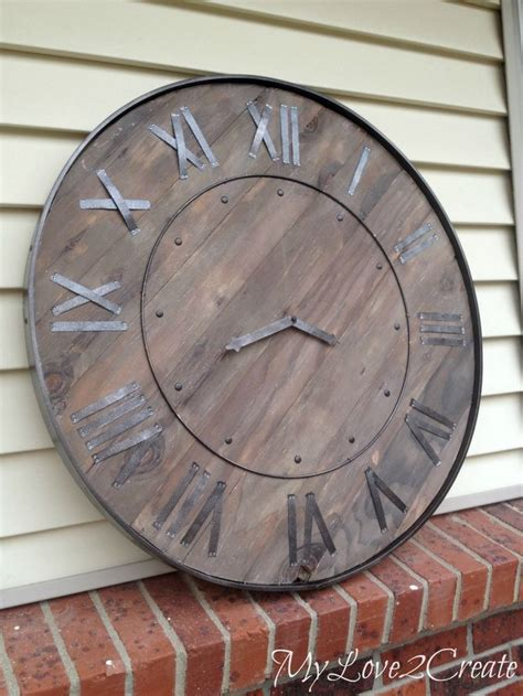 best large wall clocks large rustic clock best wall clocks ideas on pinterest