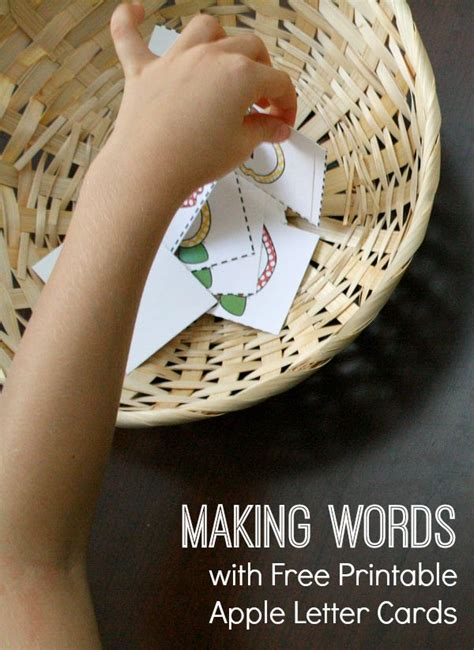 Get Free Apple Gift Card - free apple letter cards for making words activities fantastic fun learning