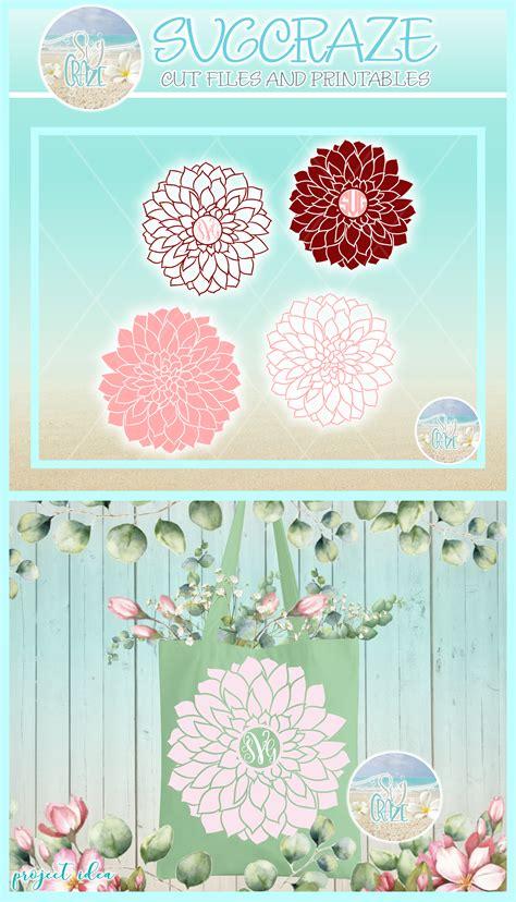 dahlia flower outline svg dxf eps png  files  cricut