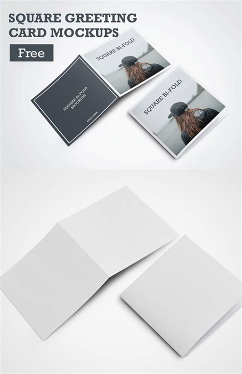 Square Greeting Card Template by Free Psd Mockup Templates 30 Presentation Mock Ups Idevie