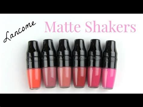Lipstik Lancome lancome matte shaker liquid lipsticks lip swatches