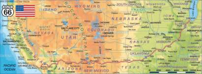 map of route 66 united states usa map in the atlas of