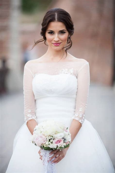 brunette bride hairstyles lovely makeup for a brunette bride wedding inspiration