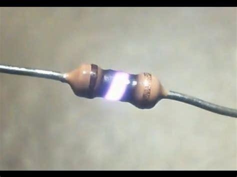 burnt resistor burn exploding resistor