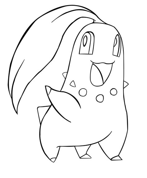pokemon coloring pages chikorita pokemon totodile and azumarill images pokemon images