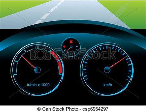 Geschwindigkeitsmesser Auto by Vektoren Illustration Armaturenbrett Auto