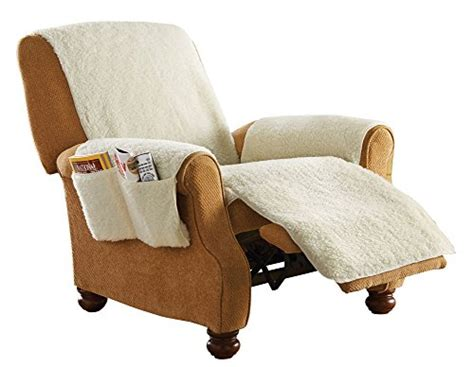 sheepskin covers for recliner chairs protective fleece 1 piece recliner protector furniture