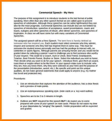 5 Exle Of Speech Introduction Introduction Letter Ceremonial Speech Exles