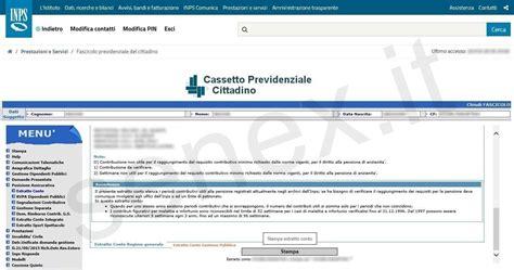 cassetto previdenziale cittadino curiosit 224 e tutorial su informatica pubblica