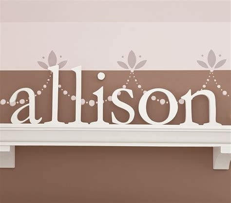 White Wooden Letters For Nursery Wall