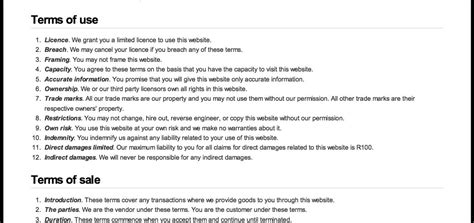 Free Terms And Conditions Template by Get Free Website Terms And Conditions Template Here