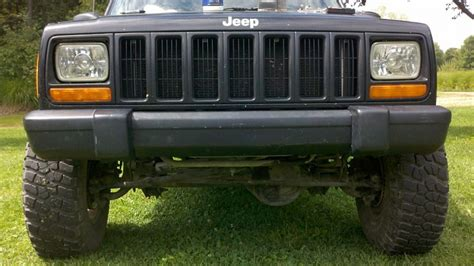 jeep xj stock bumper xj stock front bumper trim and mod jeep forum