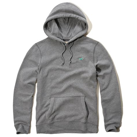 Lyst - Hollister Iconic Fleece Hoodie in Gray for Men Hollister Sweaters For Girls Grey