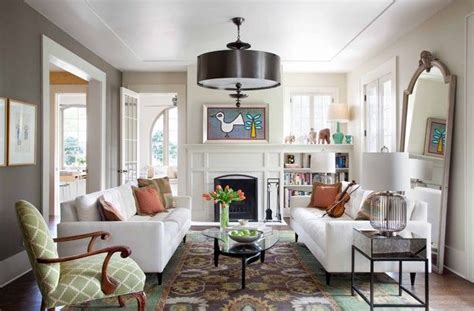 furniture layout  rectangular living room rectangle