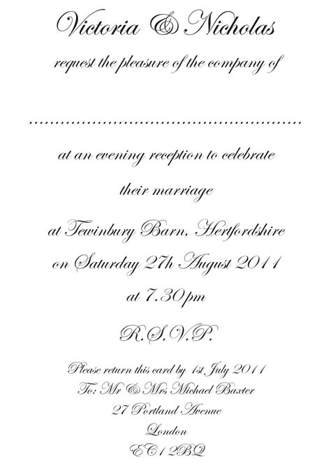 formal wedding reception card wording wedding invitation etiquette and wedding invitation wording invitation wording wedding