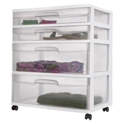 Sterilite 4 Drawer Storage Cart by Sterilite 4 Drawer Storage Cart White
