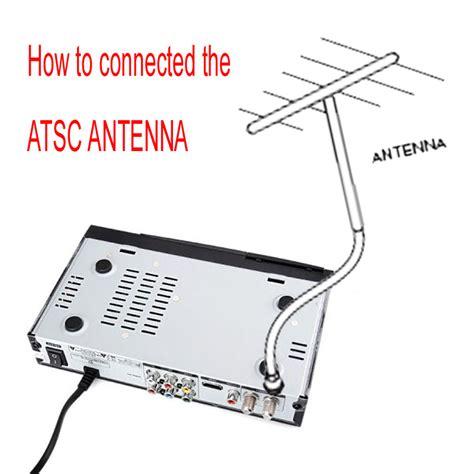usa digital to analog terrestrial atsc convertor tv receiver with indoor antenna ebay