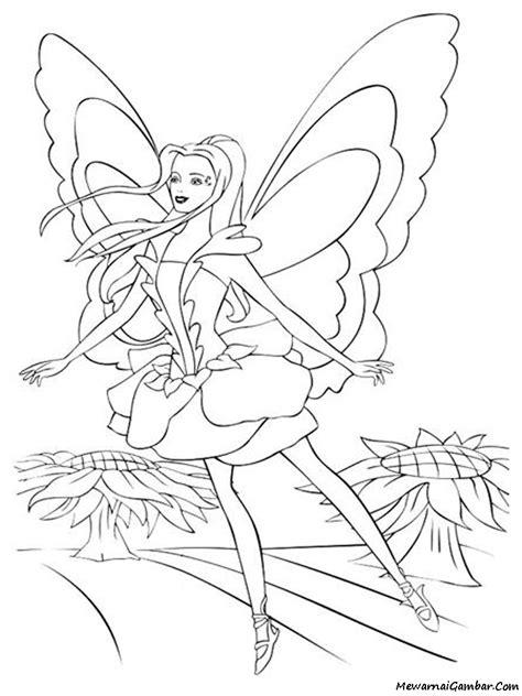 Mewarnai Barbie Fairytopia | Mewarnai Gambar