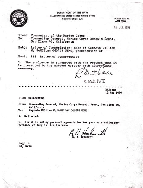 exle usmc appointment letter usmc endorsement letter exle commanding officer