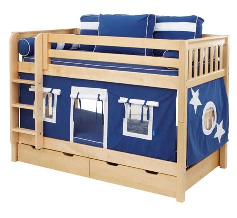 kids fort bed boys play fort bunk bed by maxtrix kids navy blue white