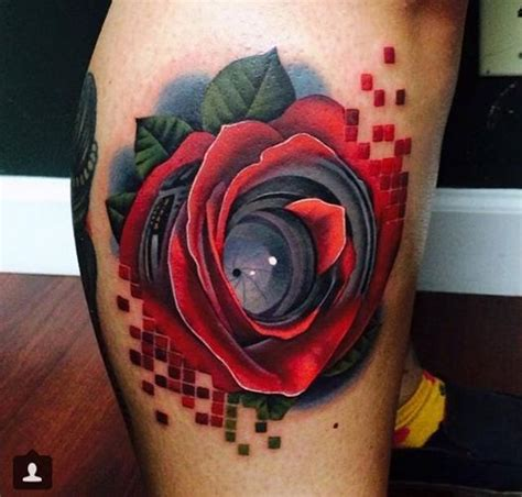 a rose with lens and pixels also by acosta love love