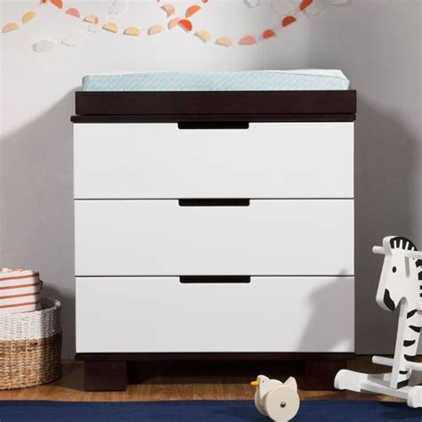Babyletto Modo Changing Table Babyletto Modo 3 Drawer Changing Table Dresser In Espresso White M6723qw