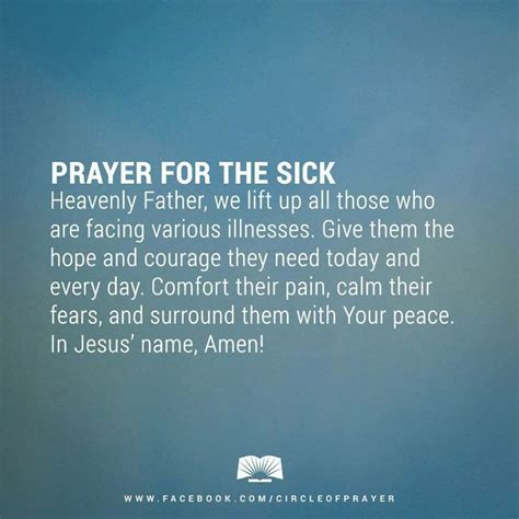 words of comfort to the sick prayers for healing the sick bing images prayers