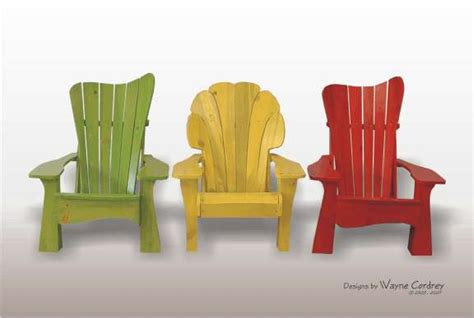 artist punches in chair bright colorwashed furniture vibrant pine adirondack deck