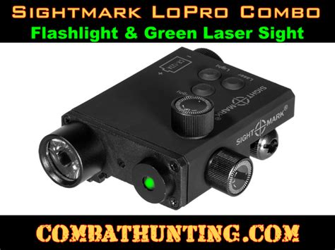 ar 15 laser light sm25004 sightmark lopro combo green laser and 220 lumen