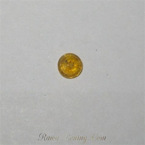 Cincin Yellow Sapphire Ah 52 batu safir kuning kanari cut 0 45 carat murah