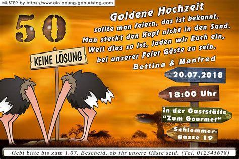 Hochzeit Lustig by Die Lustige Einladung Zur Goldenen Hochzeit Design 04