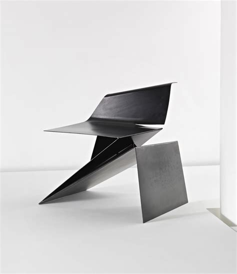 Folding Paper Chair - prototype origami chair by philip michael wolfson