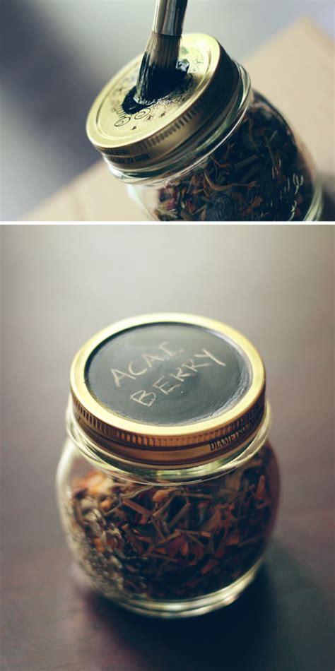 chalk paint jar labels diy tea storage jars wit whistle