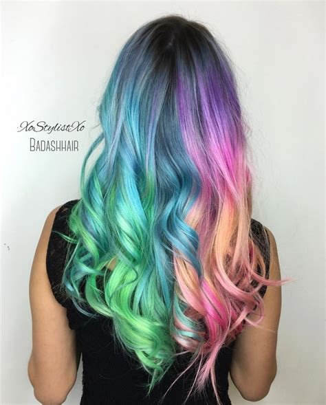 pictures of different hairstyles and colors holographicunicorn