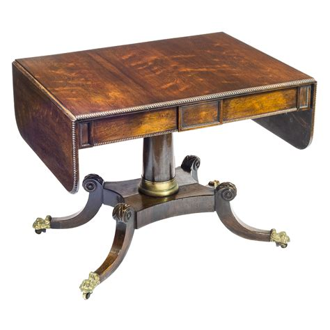 brass tables for sale early 19th century regency rosewood and brass