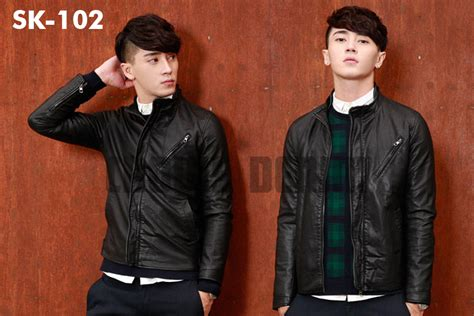 Jaket Kulit Pria Korea Style jual jaket kulit pria elegan korean style modern jaket