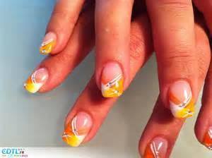 d 233 coration ongles jaune nail ongles