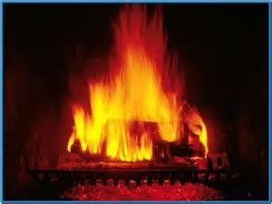 crackling fireplace screensaver free