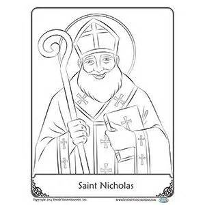 st nicholas coloring page free reproducible nicholas coloring page from