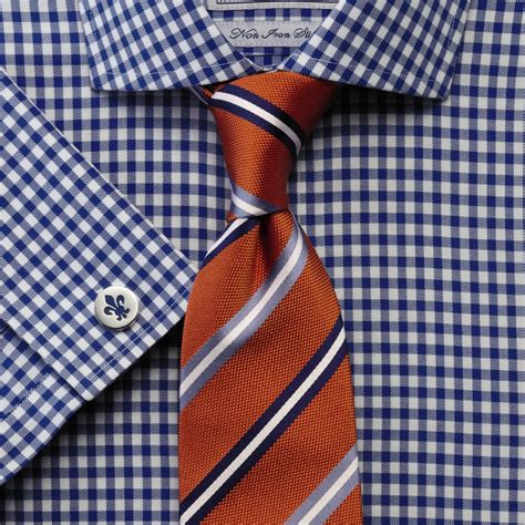 pattern shirt with striped tie tie patterns and when to wear them blue gingham shirts