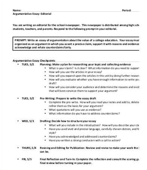 essay outline template for high school 9 argumentative essay templates pdf doc free