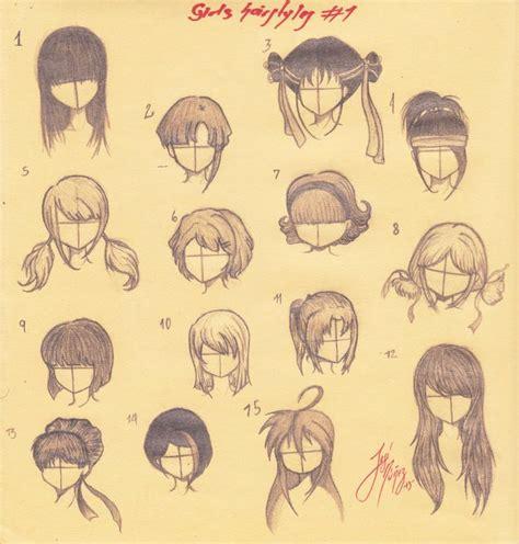 girl hairstyles deviantart manga girls hairstyles all by josen16 on deviantart