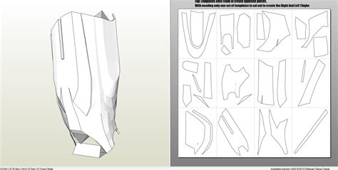 iron foam armor templates foamcraft pdo file template for iron 4 6