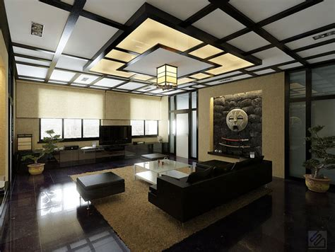 modern japanese style living room with japanese style